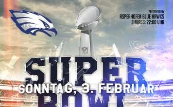 Blue Hawks Flyer Super Bowl Party2019
