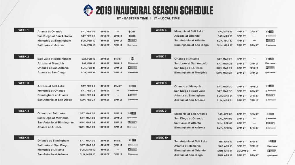 AFF Schedule