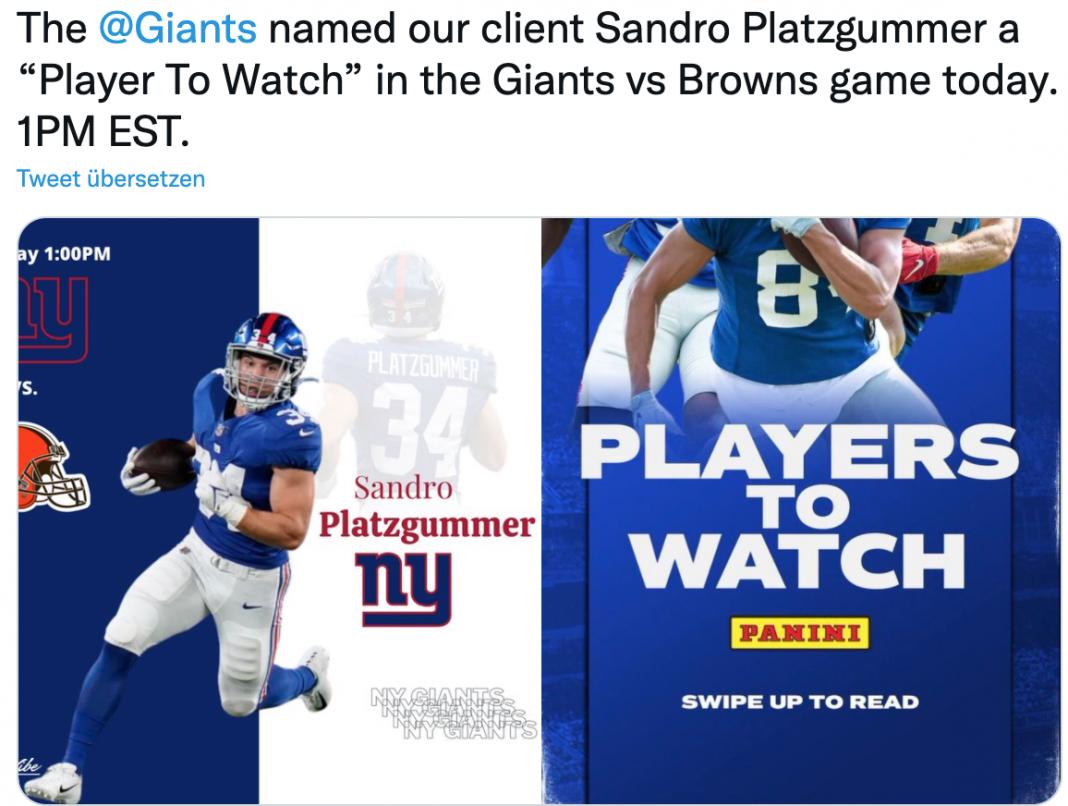 Sandro Platzgummer Player to watch
