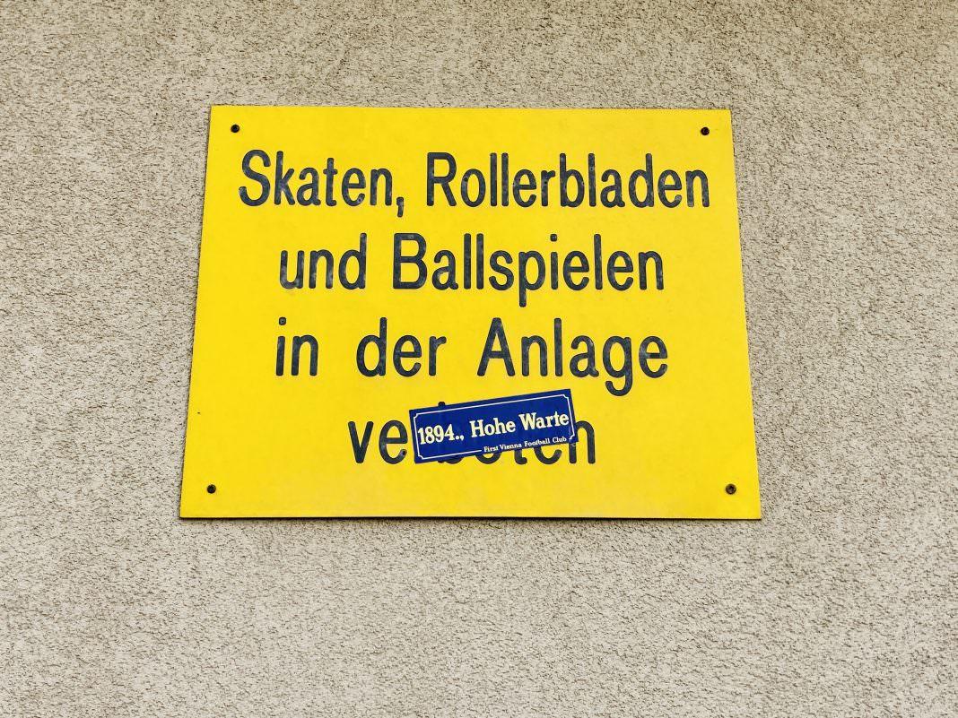 Ballspielen verboten