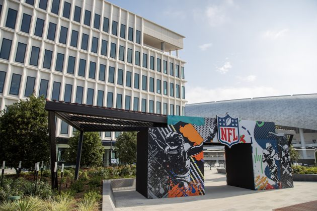 NFL Staff Arrive at SoFi Offices